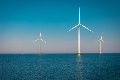 Energy Executive Of Tomorrow, Windmill farm in the ocean ,windmills